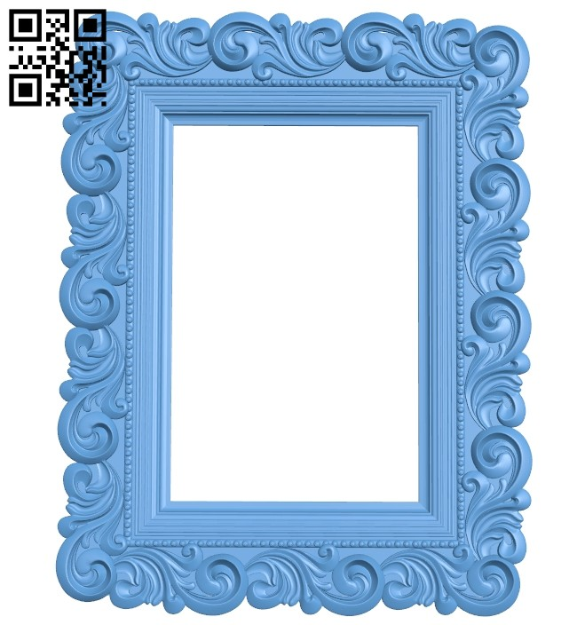 Picture frame or mirror A005442 download free stl files 3d model for CNC wood carving