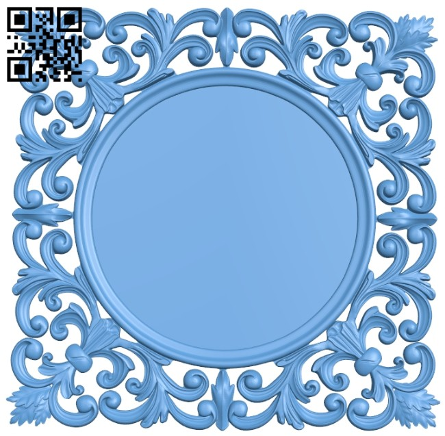 Picture frame or mirror A005443 download free stl files 3d model for CNC wood carving