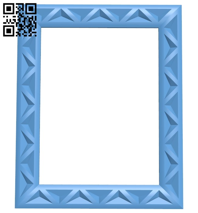 Picture frame or mirror A005444 download free stl files 3d model for CNC wood carving