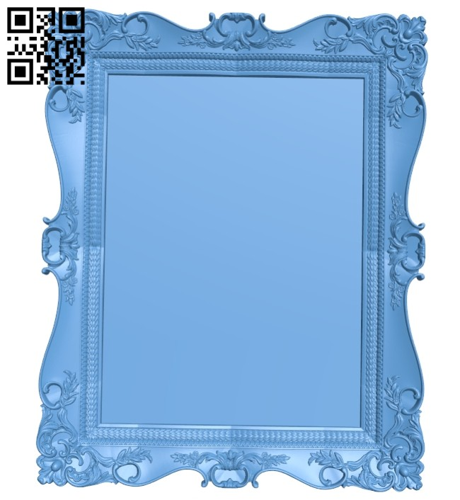 Picture frame or mirror A005464 download free stl files 3d model for CNC wood carving