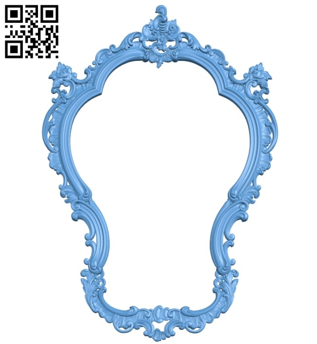 Picture frame or mirror A005465 download free stl files 3d model for CNC wood carving