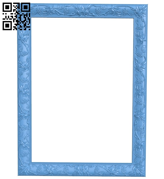 Picture frame or mirror A005526 download free stl files 3d model for CNC wood carving