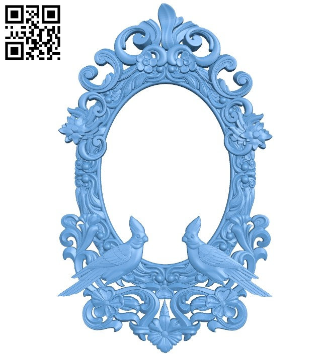 Picture frame or mirror A005527 download free stl files 3d model for CNC wood carving