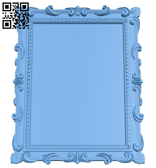 Picture frame or mirror A005532 download free stl files 3d model for CNC wood carving