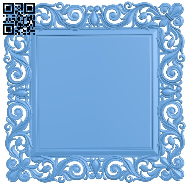 Picture frame or mirror A005550 download free stl files 3d model for CNC wood carving