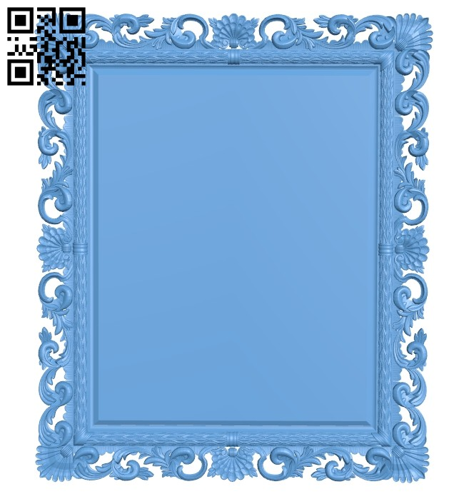 Picture frame or mirror A005551 download free stl files 3d model for CNC wood carving