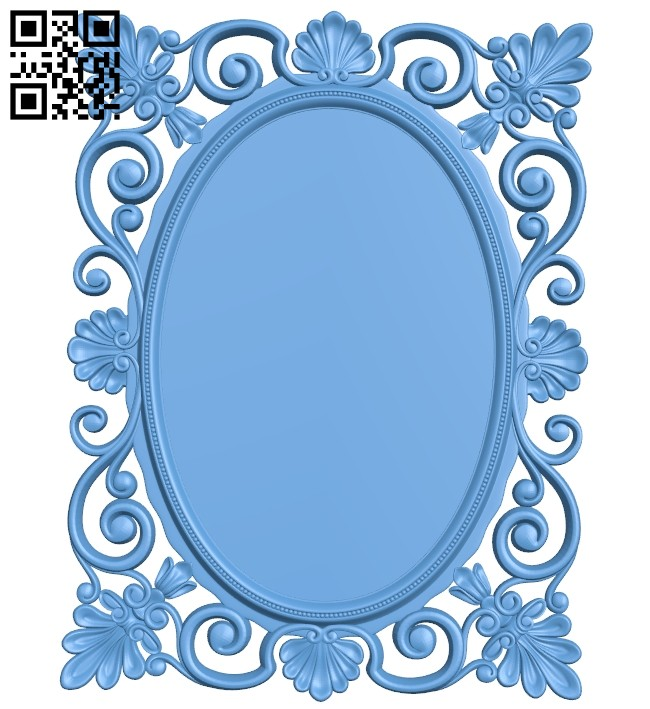 Picture frame or mirror A005552 download free stl files 3d model for CNC wood carving
