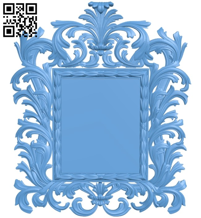 Picture frame or mirror A005554 download free stl files 3d model for CNC wood carving