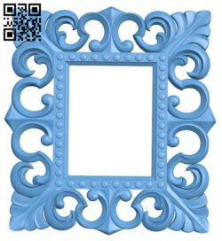 Picture frame or mirror A005606 download free stl files 3d model for CNC wood carving