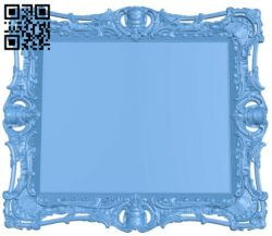 Picture frame or mirror A005607 download free stl files 3d model for CNC wood carving