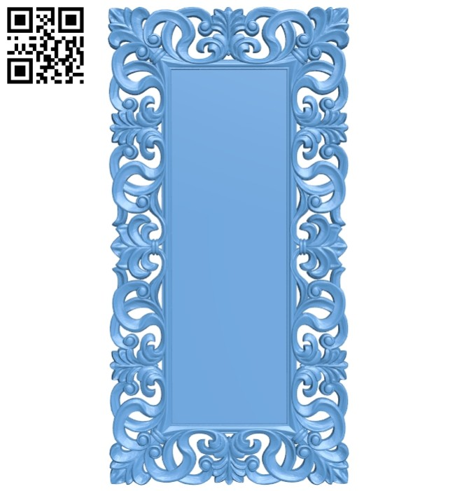 Picture frame or mirror A005608 download free stl files 3d model for CNC wood carving