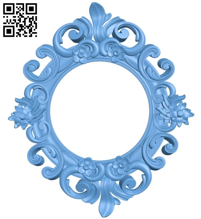 Picture frame or mirror A005622 download free stl files 3d model for CNC wood carving