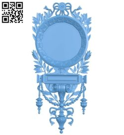 Picture frame or mirror A005625 download free stl files 3d model for CNC wood carving