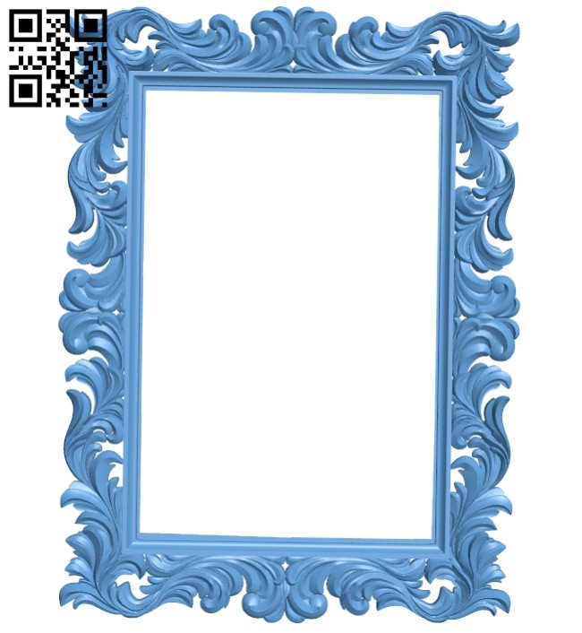 Picture frame or mirror A005628 download free stl files 3d model for CNC wood carving