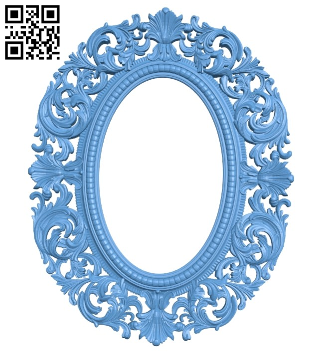 Picture frame or mirror A005629 download free stl files 3d model for CNC wood carving