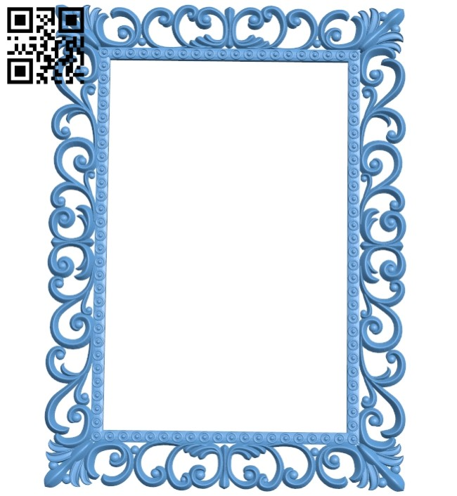 Picture frame or mirror A005630 download free stl files 3d model for CNC wood carving