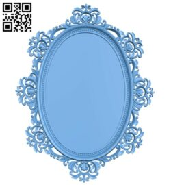 Picture frame or mirror A005631 download free stl files 3d model for CNC wood carving