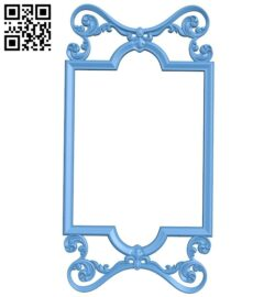Picture frame or mirror A005646 download free stl files 3d model for CNC wood carving