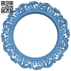 Picture frame or mirror – circle A005623 download free stl files 3d model for CNC wood carving