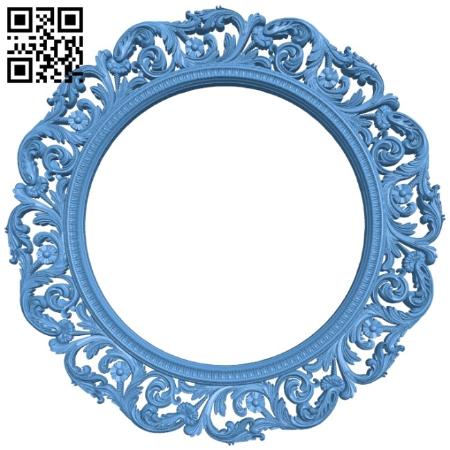 Picture frame or mirror - circle A005623 download free stl files 3d model for CNC wood carving