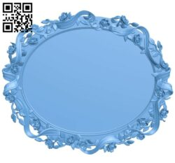 Picture frame or mirror oval A005436 download free stl files 3d model for CNC wood carving