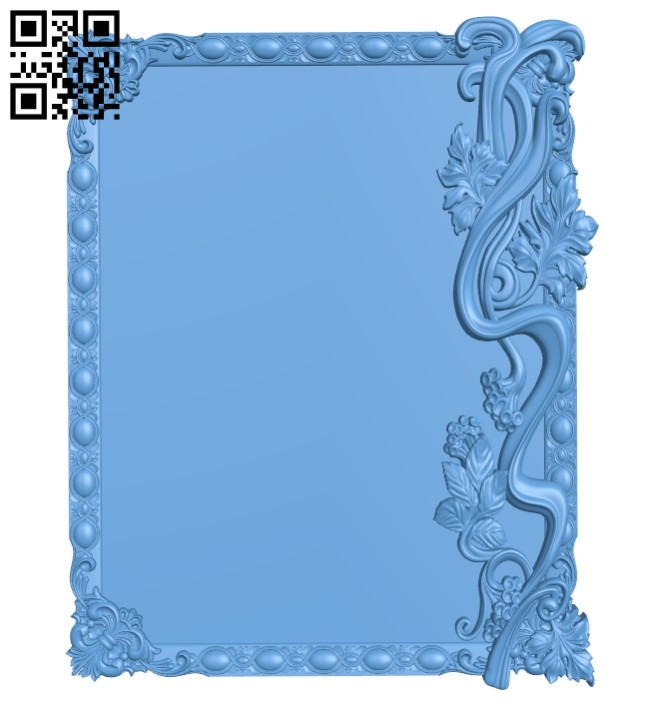 Picture frames A005502 download free stl files 3d model for CNC wood carving