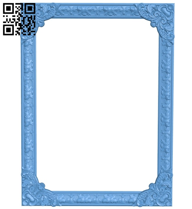 Picture frames A005503 download free stl files 3d model for CNC wood carving