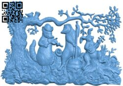 Pictures of animals in the forest singing A005508 download free stl files 3d model for CNC wood carving
