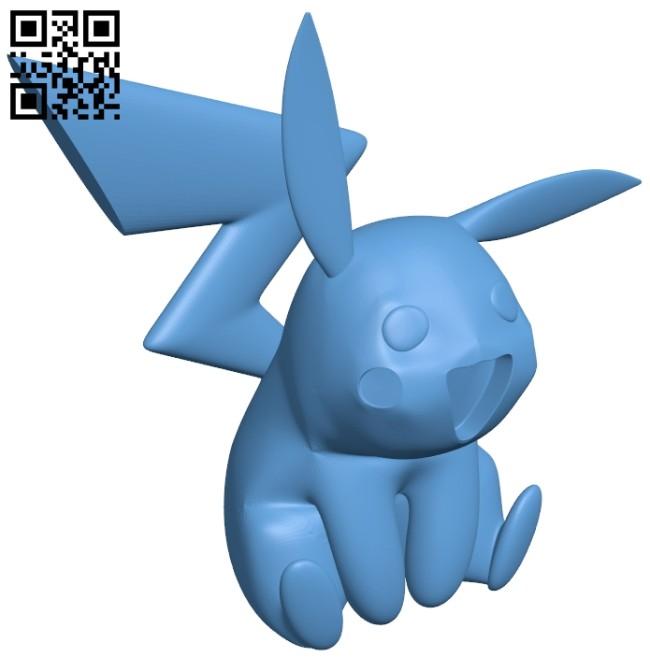 Pikachu - pokemon B008522 file stl free download 3D Model for CNC and 3d printer