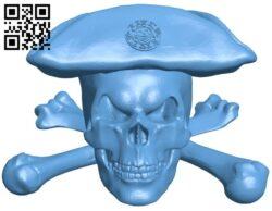 Pirate skulls B008400 file stl free download 3D Model for CNC and 3d printer