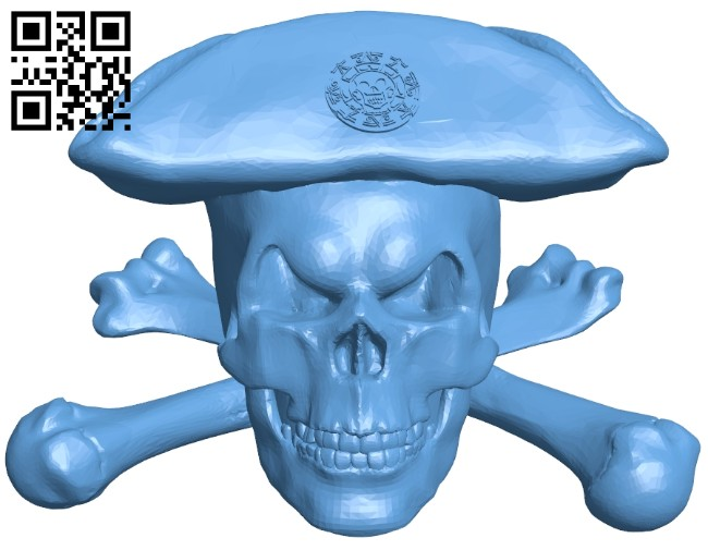 Pirate skulls B008400 file stl free download 3D Model for CNC and 3d printer