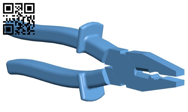 Pliers B008377 file stl free download 3D Model for CNC and 3d printer