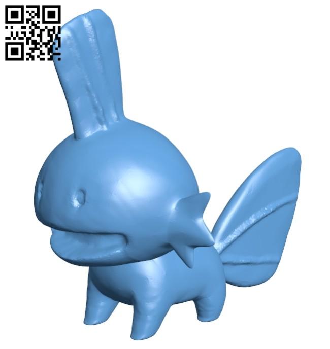 Pokemon mudkip B008552 file stl free download 3D Model for CNC and 3d printer