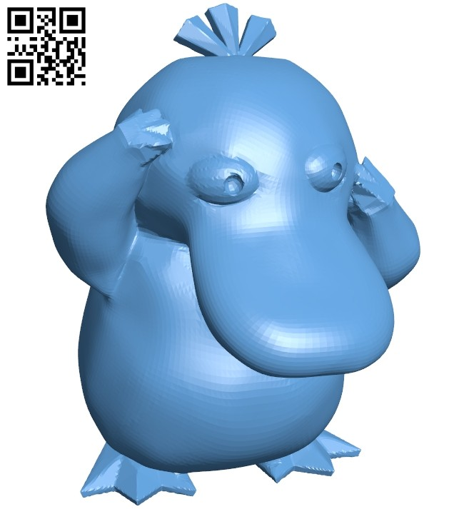Psyduck - pokemon B008535 file stl free download 3D Model for CNC and 3d printer