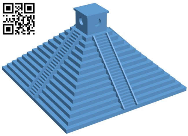 Pyramid of the maya - house B008477 file stl free download 3D Model for CNC and 3d printer