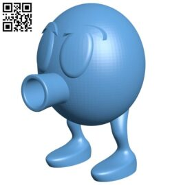 Qbert egg B008419 file stl free download 3D Model for CNC and 3d printer