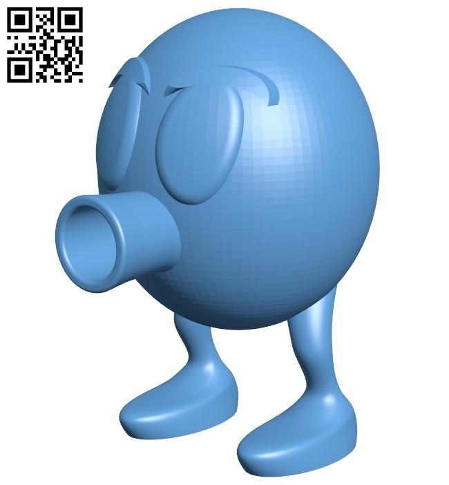 Qbert egg B008419 file stl free download 3D Model for CNC and 3d printer