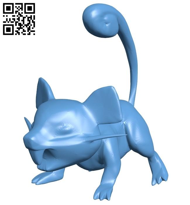 Rattata B008540 file stl free download 3D Model for CNC and 3d printer