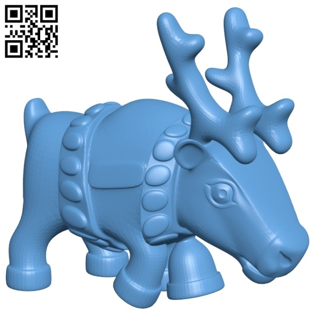 Reindeer B008507 file stl free download 3D Model for CNC and 3d printer