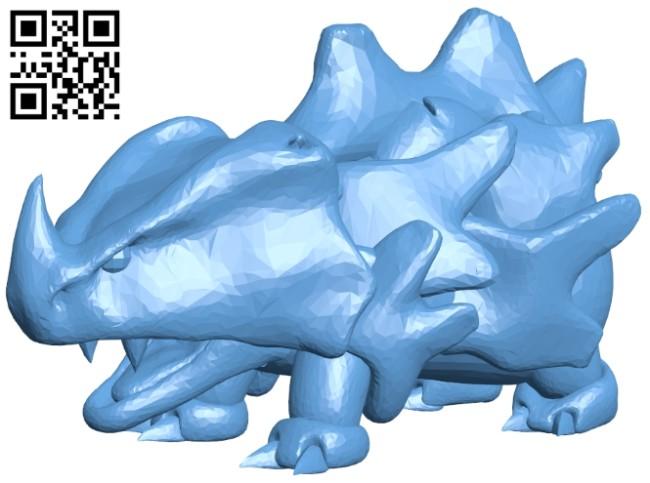 Rhyhorn - pokemon B008441 file stl free download 3D Model for CNC and 3d printer