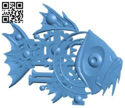 Robot Fish B008383 file stl free download 3D Model for CNC and 3d printer