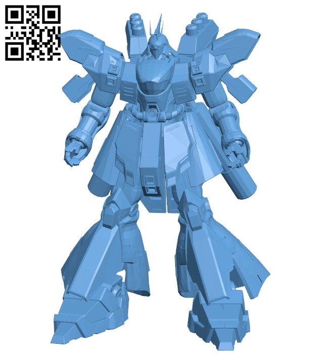 Robot Sazabi B008449 file stl free download 3D Model for CNC and 3d printer