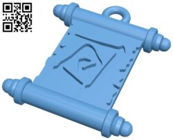 Roll-mail pendant B008404 file stl free download 3D Model for CNC and 3d printer
