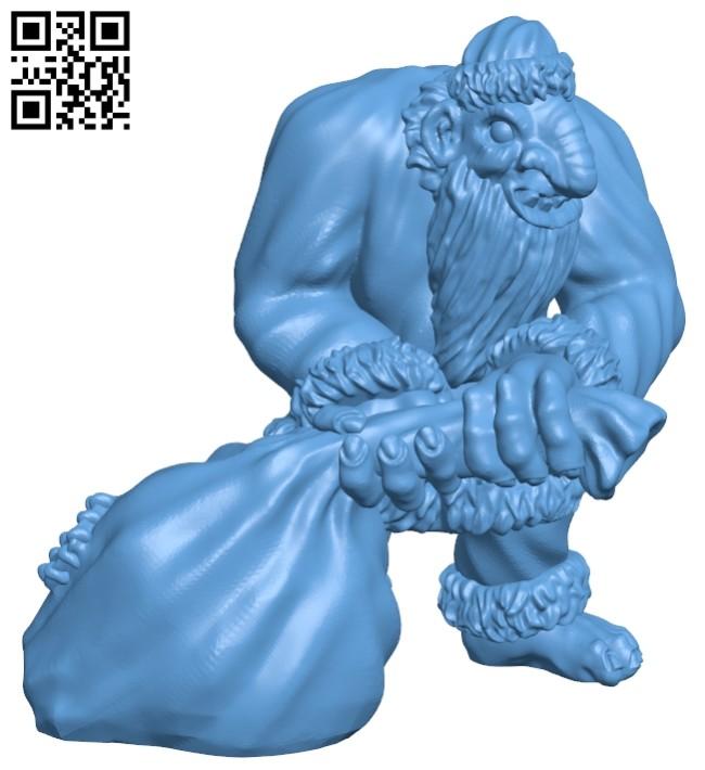Santa Troll B008519 file stl free download 3D Model for CNC and 3d printer