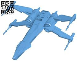 Ship T-85 X-Wing B008484 file stl free download 3D Model for CNC and 3d printer
