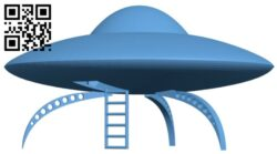 Ship UFO B008387 file stl free download 3D Model for CNC and 3d printer