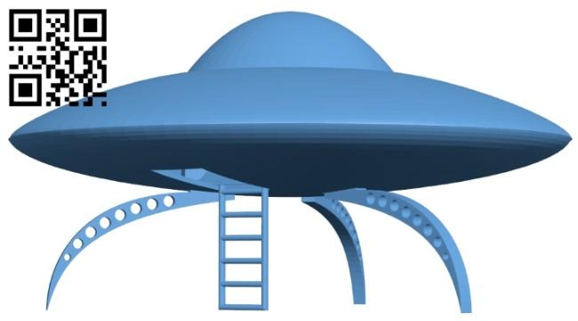 Ship UFO B008387 file stl free download 3D Model for CNC and 3d printer