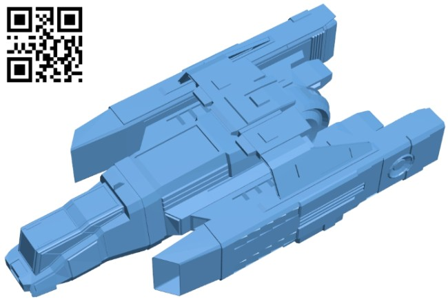Ship space bomber B008494 file stl free download 3D Model for CNC and 3d printer