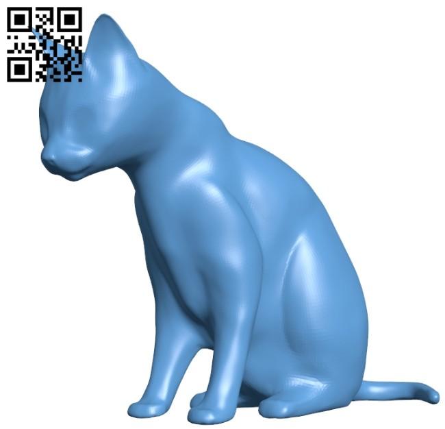 Sitting cat B008523 file stl free download 3D Model for CNC and 3d printer