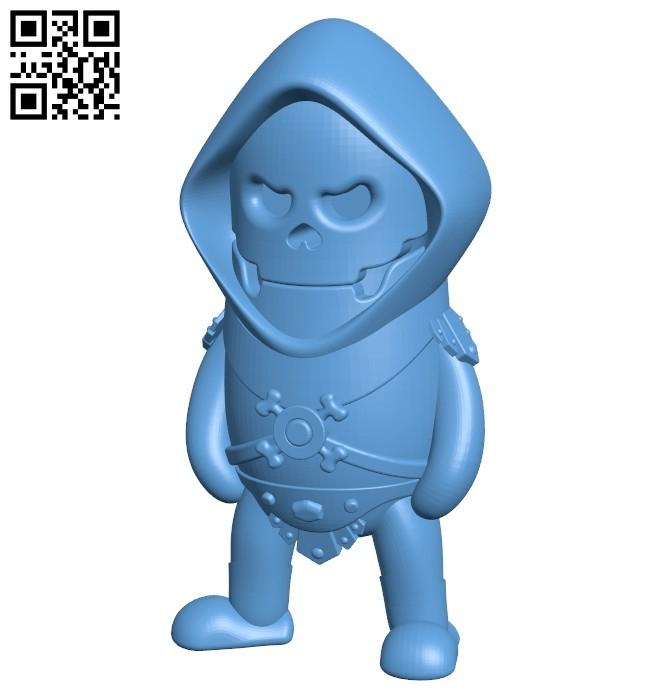 Skeletor B008499 file stl free download 3D Model for CNC and 3d printer